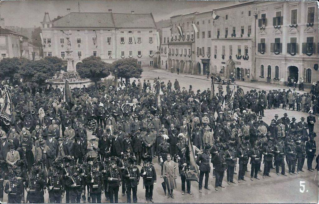 Freistadt Hauptplatz Bürgerkorps 1905