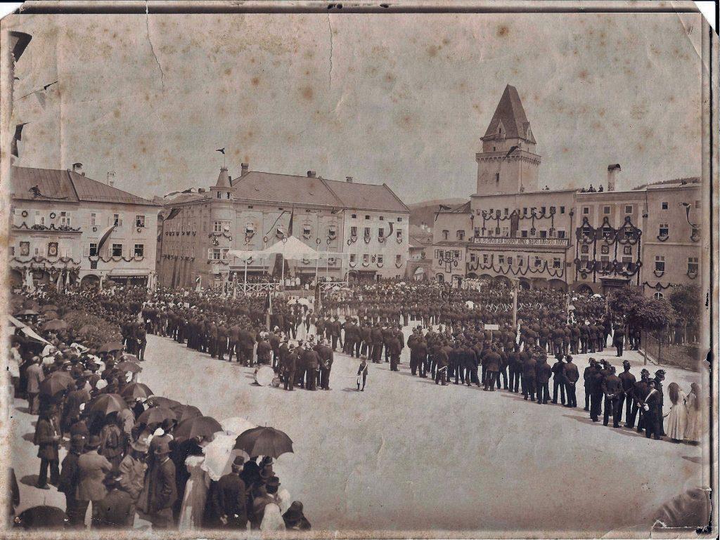 Freistadt Hauptplatz Bürgerkorps 1915
