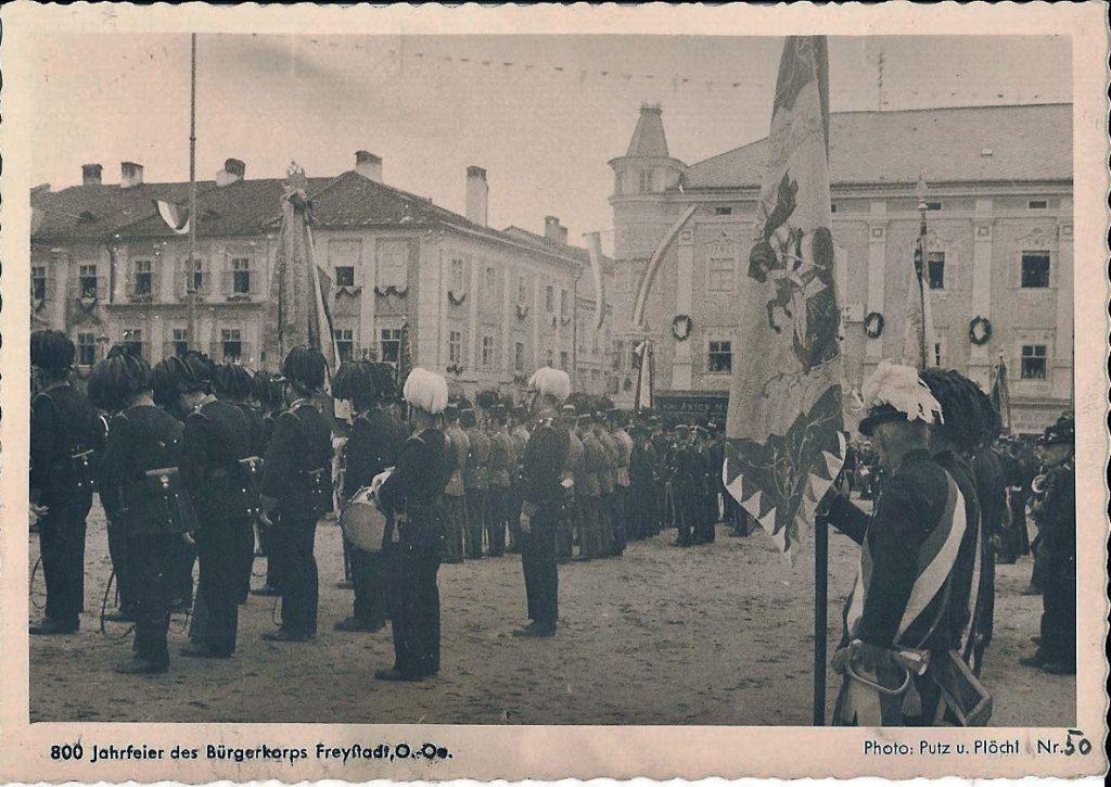 Freistadt Hauptplatz Bürgerkorps 1920